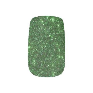 Grüne Glitzern Minx Nagelkunst
