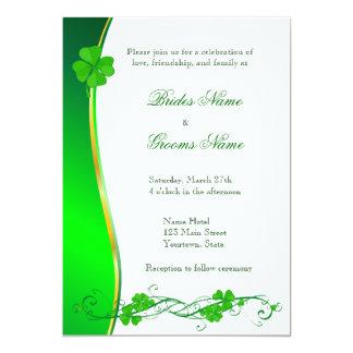 Grüne glückliche 12,7 x 17,8 cm einladungskarte
