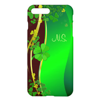 Grüne glückliche Kleeblatt-Imitat-Glitterwelle