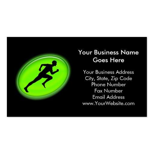 Grüne Glühen-Fitness und persönliches Visitenkartenvorlagen