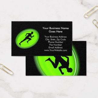 Grüne Glühen-Fitness und persönliches Visitenkarte