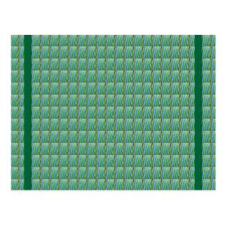 Grüne Goodluck Kristallfliesen addieren Postkarte