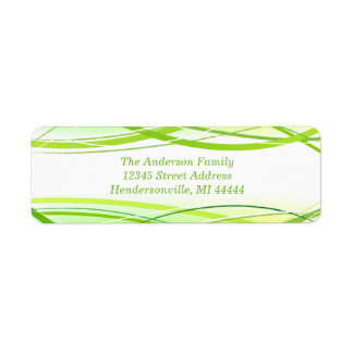 Grüne Grenzen - Adressen-Etikett