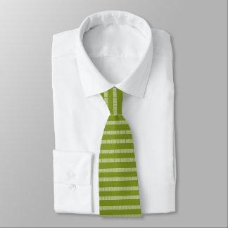 Grüne griechische Muster-Krawatte Individuelle Krawatte