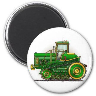 Grüne große Bulldozer-Traktor-Magneten Runder Magnet 5,1 Cm