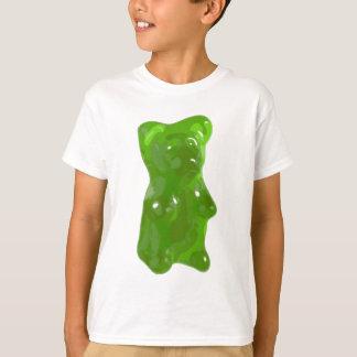 Grüne gummiartige Bärn-Süßigkeit T-Shirt