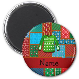 Grüne hässliche Strickjacke des individuellen Runder Magnet 5,7 Cm