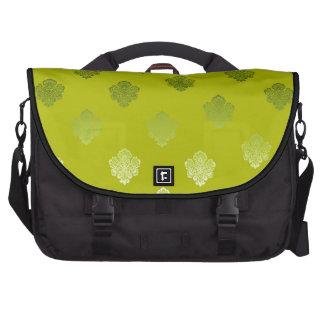 grüne hellgrüne sikl Silber-Weißverzierungen Notebook Tasche
