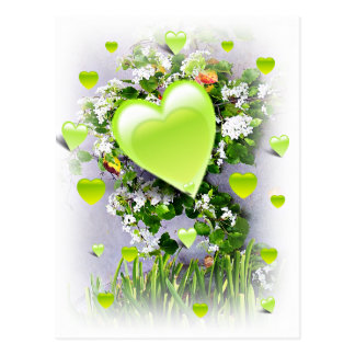 Grüne Herzen von Love_ Postkarten