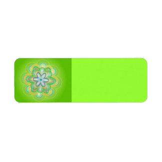Grüne Hippie-BlumenvektorBluesorangen weiß