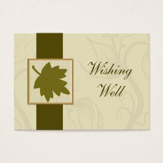 grüne Hochzeit im Herbst, die wohle Karten wünscht