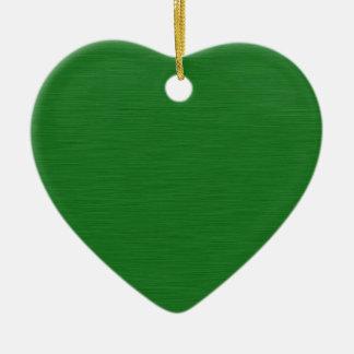 Grüne Holzmaserung Keramik Herz-Ornament