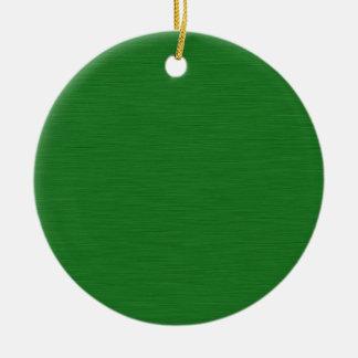 Grüne Holzmaserung Rundes Keramik Ornament