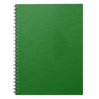 Grüne Holzmaserung Spiral Notizblock