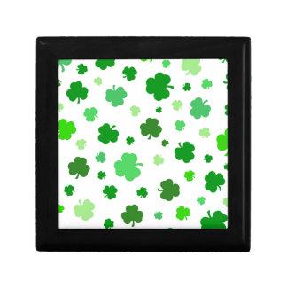 Grüne irische Kleeblätter Erinnerungskiste