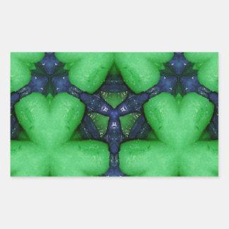 Grüne irische Kleeblätter Rechteckiger Aufkleber