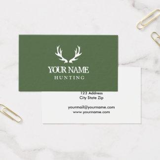 Grüne Jagdrotwildgeweih-Visitenkarteschablone Visitenkarte