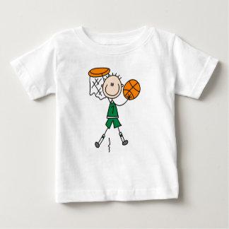 Grüne Jungen-Basketball-Spieler-T - Shirts und
