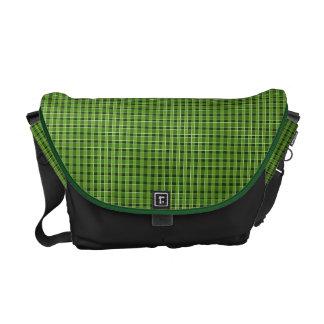 Grüne karierte Bote-Tasche Kuriertasche