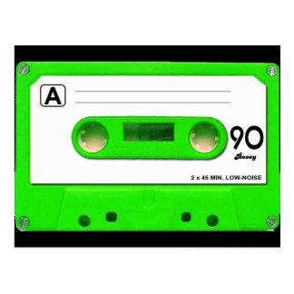 Grüne Kassette Postkarte