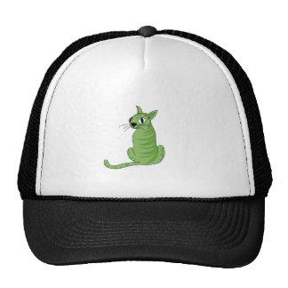 Grüne Katze Retrokappe