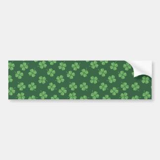 Grüne keltische Iren vier trieben Klee St Patrick Autoaufkleber