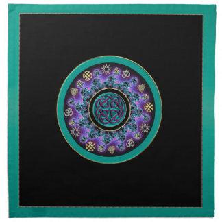Grüne keltische mystische Mandala-Servietten Serviette