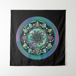 Grüne keltische mystische Mandala-Wand-Tapisserie Wandteppich