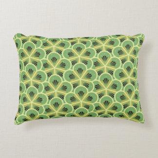 Grüne Kiwi-Blumenmuster-Akzent-Kissen Zierkissen