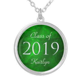Grüne Klasse von 2019 personalisiert Versilberte Kette