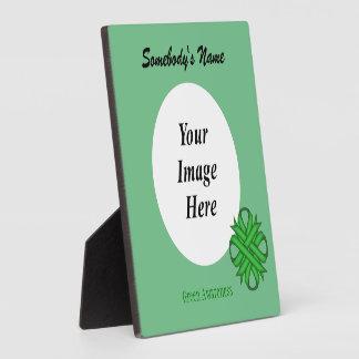 Grüne Klee-Band-Schablone Fotoplatte