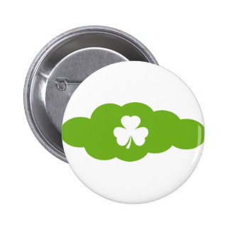 grüne Kleeblattwolke Runder Button 5,7 Cm