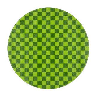 Grüne Kombinations-klassisches Schachbrett durch Schneidebrett