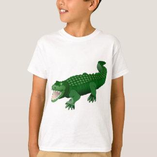 Grüne Krokodilanimationsillustration T-Shirt