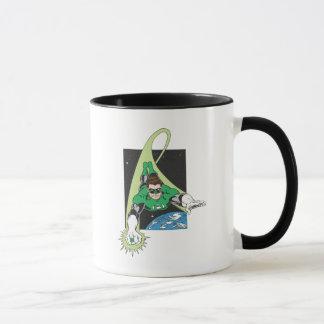 Grüne Laterne im Raum Tasse