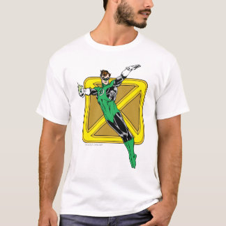 Grüne Laterne mit Hintergrund T-Shirt
