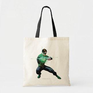 Grüne Laterne u. glühender Ring Einkaufstasche