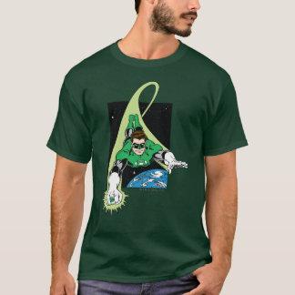 Grüne Laterne und Erde T-Shirt