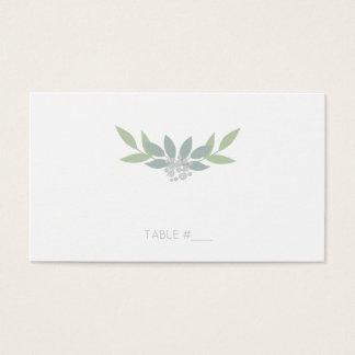Grüne Laub-Platzkarten - flach Visitenkarte