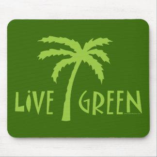 Grüne lebhaftpalme umweltsmäßig mousepad