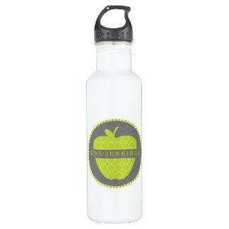 Grüne Lehrer-Wasser-Flasche Apples Quatrefoil Trinkflaschen