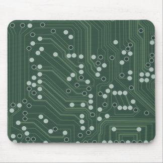 Grüne Leiterplatte-Hintergrund-Muster-Kunst Mousepad