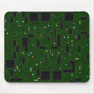 Grüne Leiterplatte Mauspad