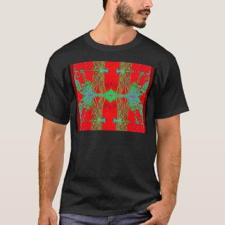 Grüne Libellen, chinesische rote Geschenke durch T-Shirt