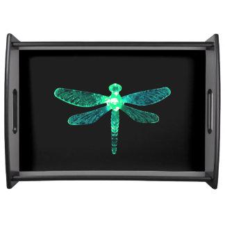 Grüne Libellen-großes Serviertablett