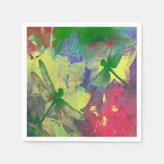 Grüne Libellen Serviette