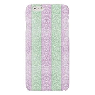 Grüne lila Damast-Band-Süßigkeit zeichnet Kawaii