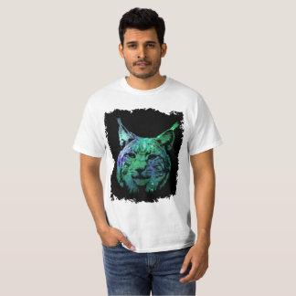 grüne lila kosmische wilde Katze der Galaxie-3D T-Shirt