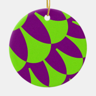 Grüne lila Skala-Verzierung Keramik Ornament
