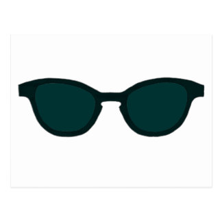Grüne Linse Sonnenbrille-schwarze Kante-DK das Postkarte